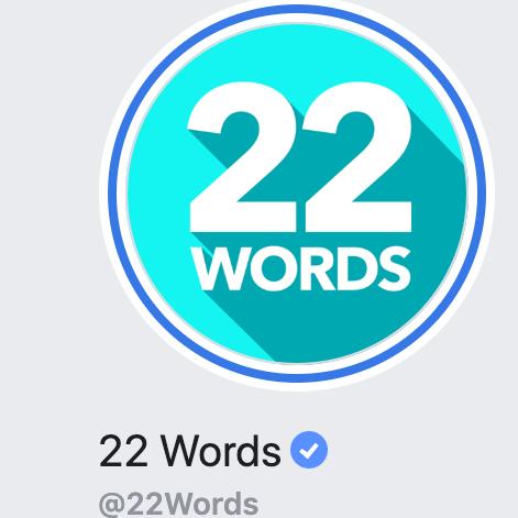 22 words logo