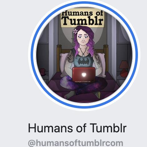 humans of tumblr logo