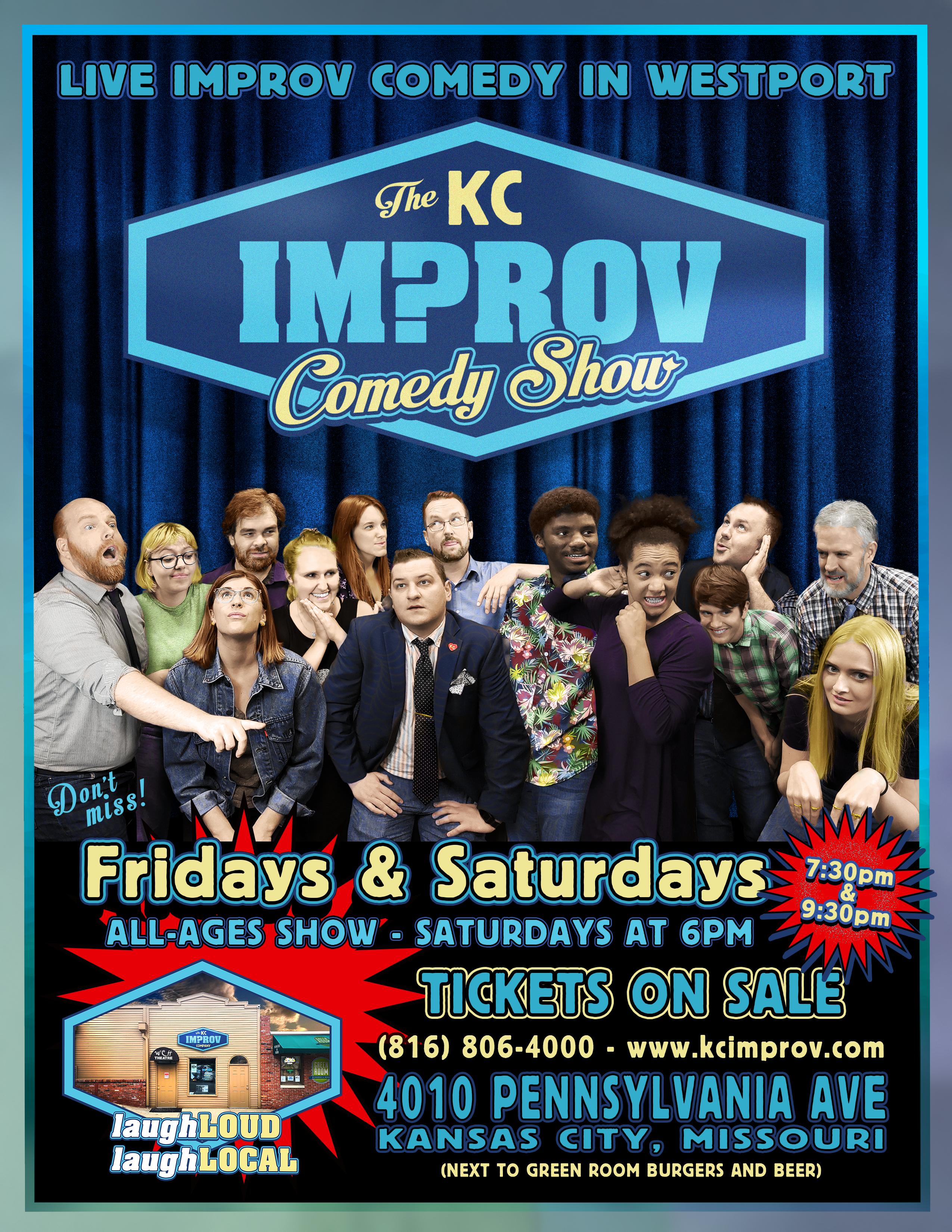 kc improv comedy show poster
